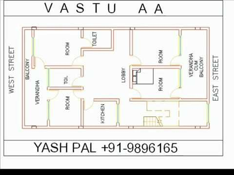 VASTU MAP DRAW WITH IN 40 SECONDS EAST FACE 4 - YouTube ...