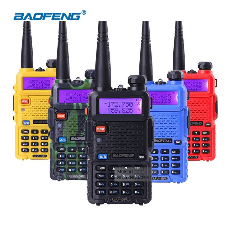 Portable Radio Set BaoFeng UV-5R 5W Dual Band VHF/UHF Handheld Two Way Radio CB Walkie Talkie Ham Radio Communicator Transceiver