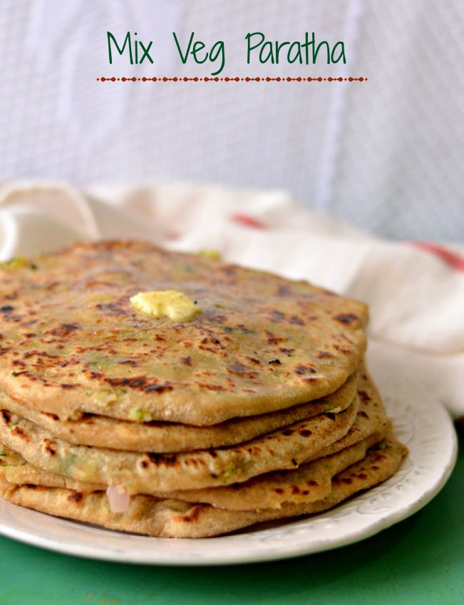 Healthy mix veg paratha