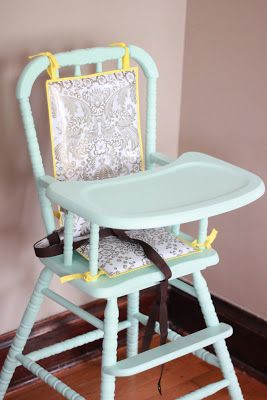 Painted wooden high chair Ok this might be the color I pick...