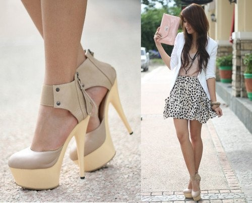<3!!!: Nude Shoes, Hot Shoes, Fashion Shoes, White Blazers, Style, Skirts, Cute Outfits, Dresses, Nude Heels