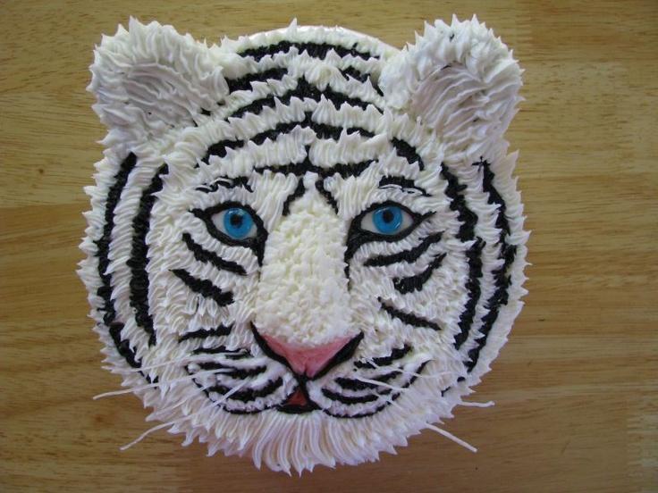 Cake Design Animaux Tigre Blanc
