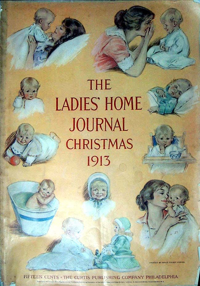 Beautiful 1913 mother and baby cover of The Ladies' Home Journal
