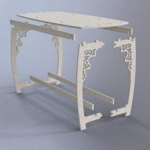 Móveis Quebra Cabeça 3D Puzzle3D Projeto para Corte Laser e Cnc Router Arquivo…