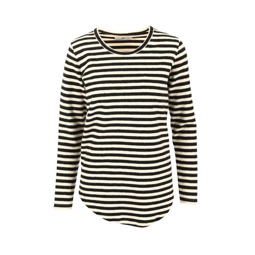 Sort Arniesays: Amber Brushed Stripe Topp