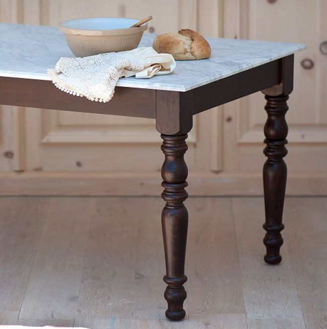 Marble English Farmhouse Dining Table
