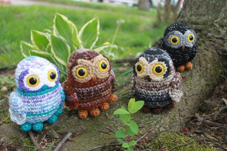 Ghostbusters Amigurumi Pattern : crochet amigurumi owls Amigurumi and appliques ...