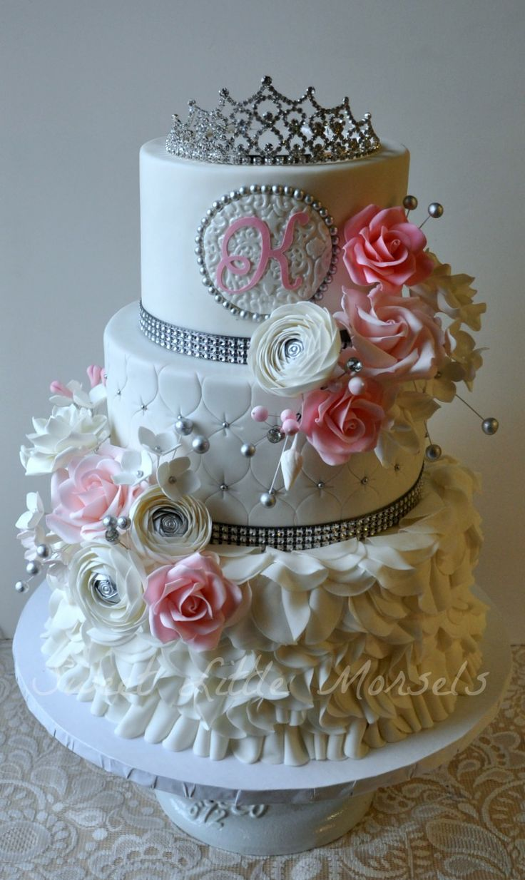 Birthday Cakes - Sweet 16 Cake - this is a bit too fancy, but I like the concept