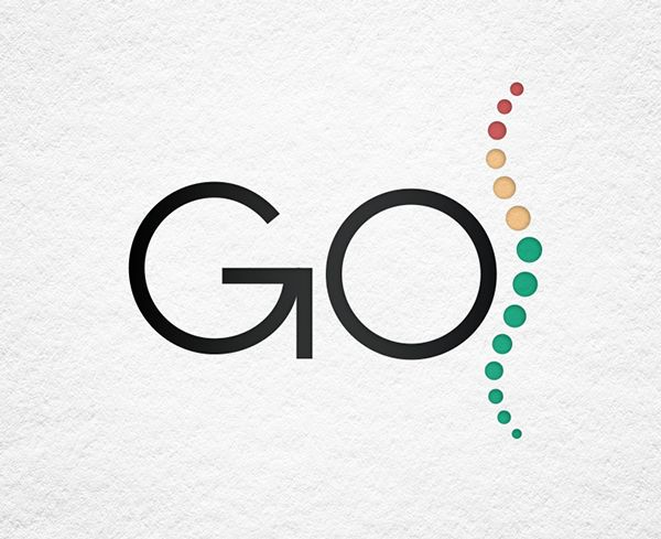 Logo design for Go Chiropractic. Simple yet powerful, by www.tagteamdesign.com , Chiropractic Logo