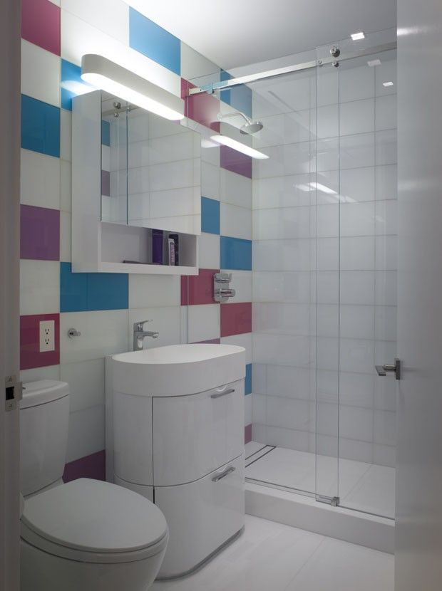 Geometria é a chave do décor em NY  Decoração, Ems e Nova # Decoracao Banheiro Visita