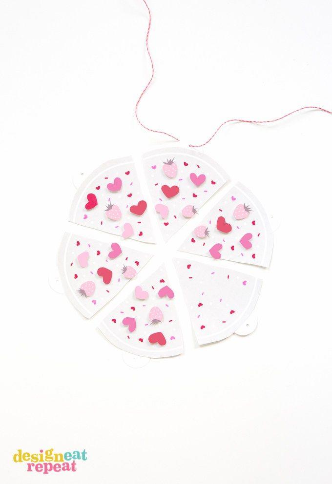 より... PIZZA大きくない愛があります! 今年(ピザ用)あなたの愛を表現するために、この印刷可能なバレンタインデーのバナーにピースオフ印刷!