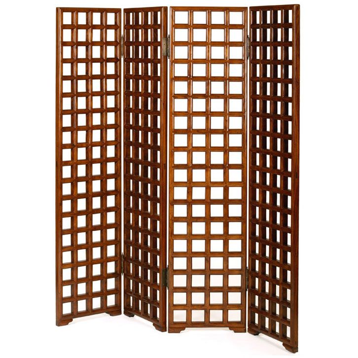 Chinese Lattice Screen Four Panel Room Divider From Shimu 1 345pounds Specialized In Asian