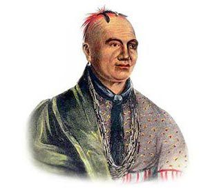 Picture of Mohawk Native American *** George Catlin  kK