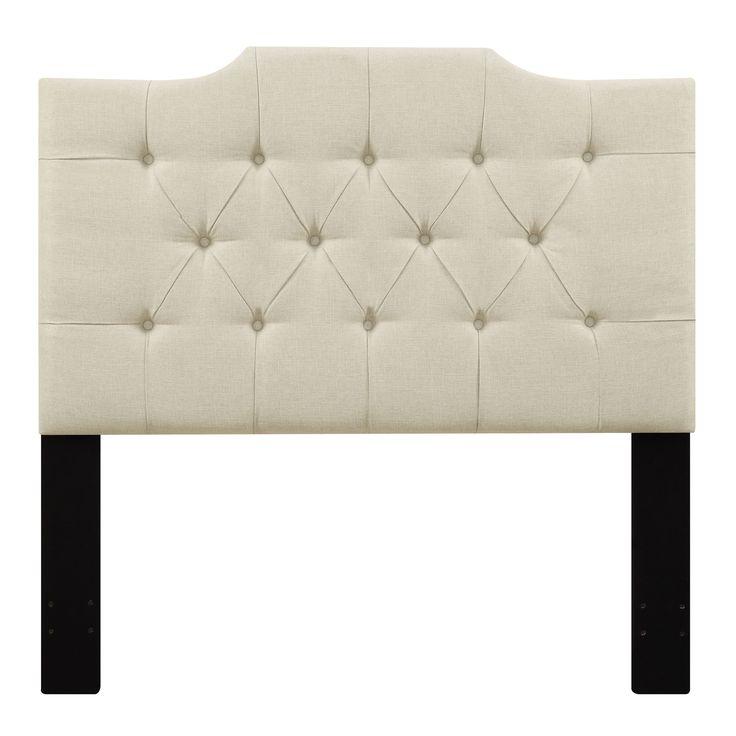 tufted beige king size upholstered headboard white