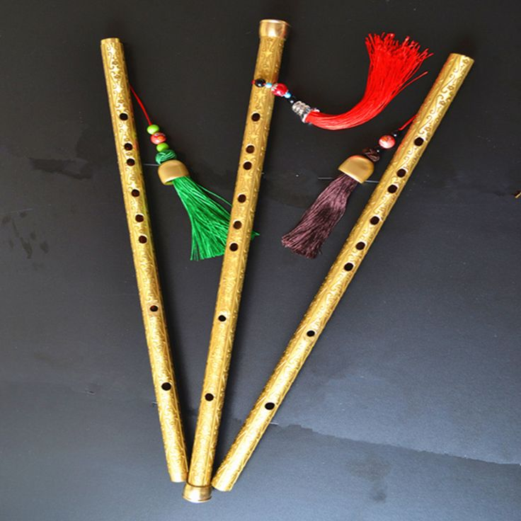 Brass Metal Flute Dizi  C /D/E Key Transverse Flute Professional Metal Flautas Self-defense Weapon Metal Flute Dizi music flute