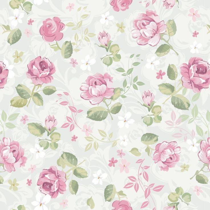 Papel De Parede Floral Rosas 34 | JMI DECOR | Elo7