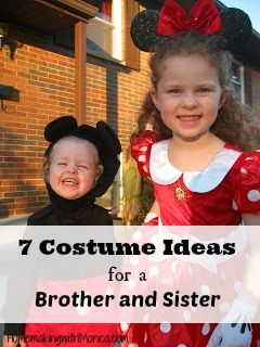 check out these fun brother and sister pair or boy and girl pair costume ideas - Halloween Costumes For Boy And Girl