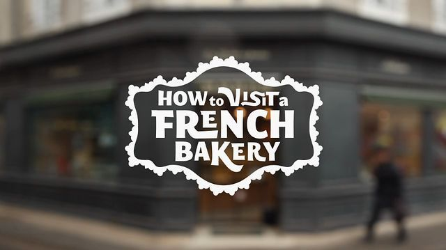 Olive, Betty, and Ralph show how to visit a French bakery.