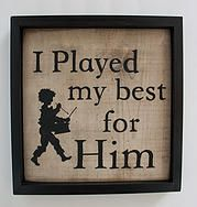 Little Drummer Boy Sign- This is my favorite Christmas hymn!!!! Shop at HavenMadeDesigns.com