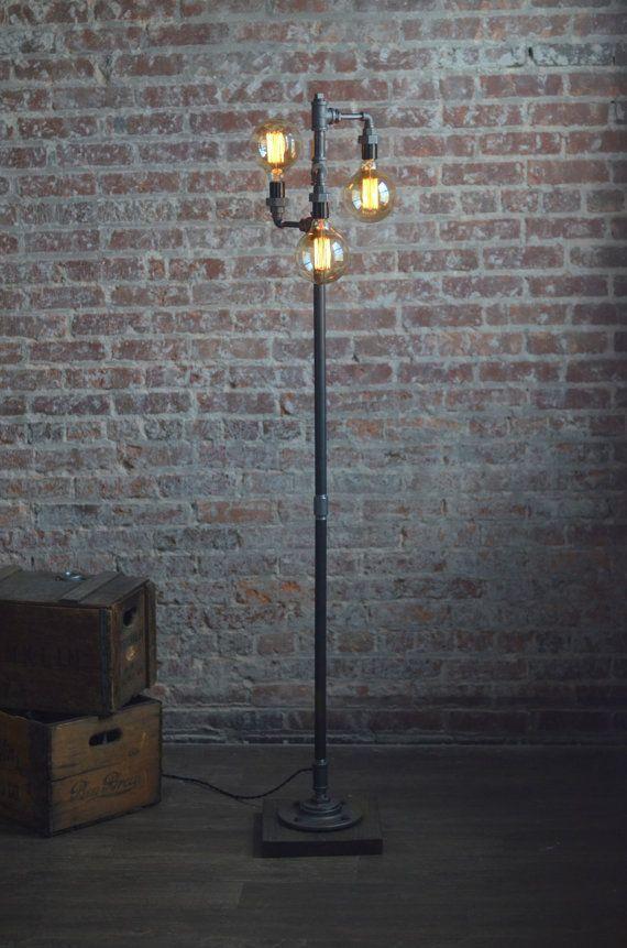 Edison Bulb Floor Lamp Furniture Standing Light
