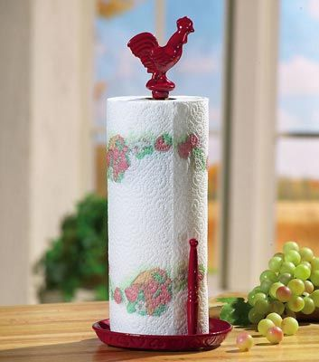 Rooster Kitchen Decor | Red Rooster Decor Metal Paper Towel ...