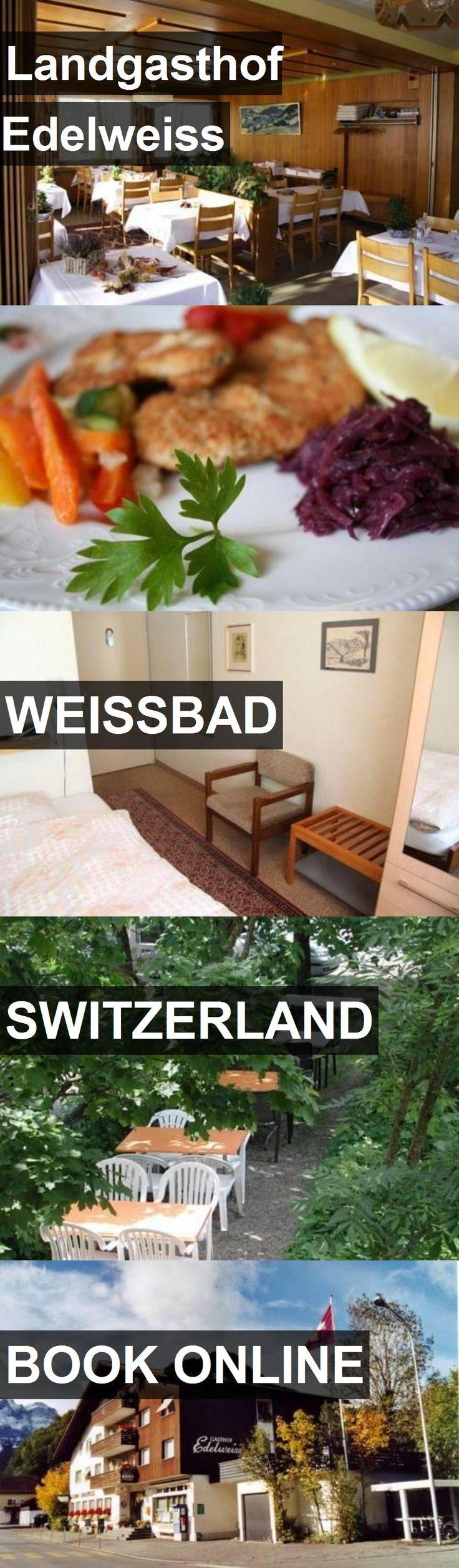 Hotel Landgasthof Edelweiss in Weissbad, Switzerland. For more information, photos, reviews and best prices please follow the link. #Switzerland #Weissbad #travel #vacation #hotel