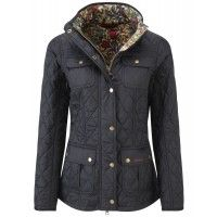 Barbour Ladies' Morris Utility Quilt Jacket – Black/Golden Lily LQU0568BK91 - Barbour - Our Brands | Country Attire