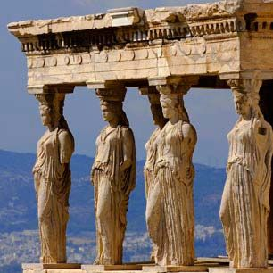Caryatides, The Acropolis in Athens, Greece