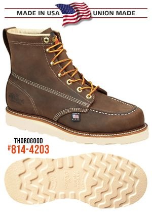 THOROGOOD WORK BOOTS | Safety and Non-Safety | AMERICAN MADE - UNION MADE | Lifetime Union Member Discounts | FREE SHIPPING & EXCHANGES