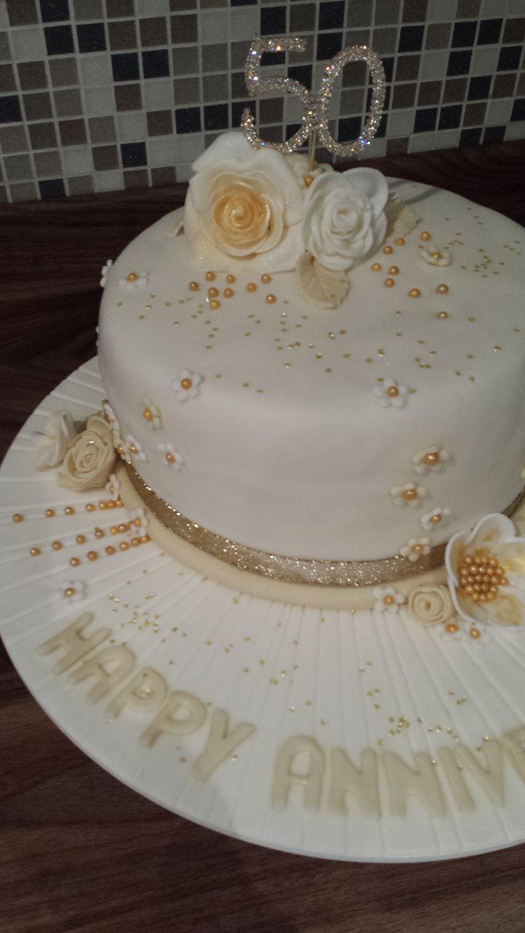 homemade 50th anniversary cake ideas