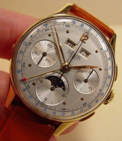 Not a watch guy but this vintage Tag Heuer Moonphase Chronograph is very choice.
