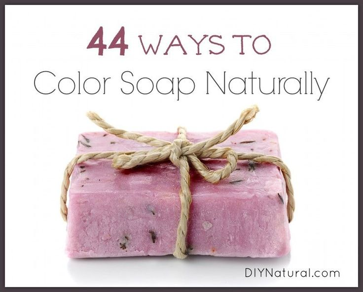 Natural organic was to Color soaps