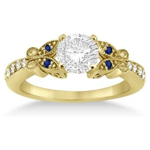 Sapphire And Diamond Rings In Yellow Gold