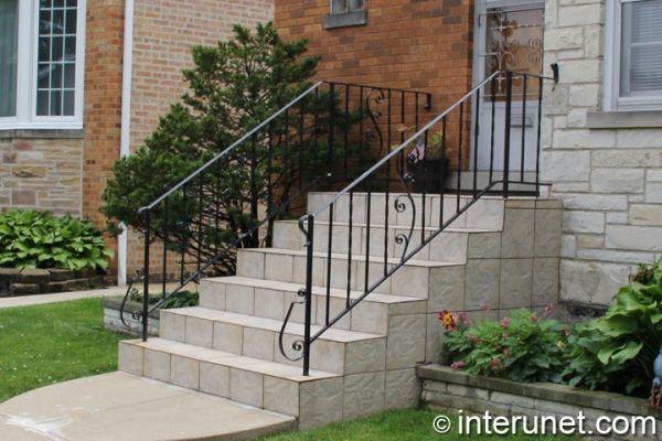 1000 ideas about concrete front porch on pinterest for Concrete patio railing
