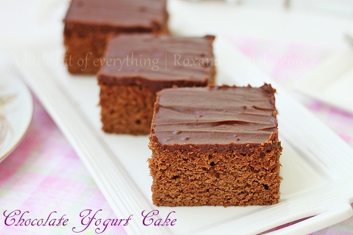 Chocolate Yogurt Cake with @RoxanaGreenGirl {A little bit of everything}