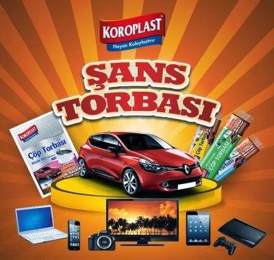 Koroplast Şans Torbası Renault Clio Çekiliş Kampanyası 2.Dönem - koroplastsanstorbasi.com http://www.kampanya-tv.com/2014/02/koroplast-sans-torbasi-renault-clio-cekilis-kampanyasi-www.koroplastsanstorbasi.com.html