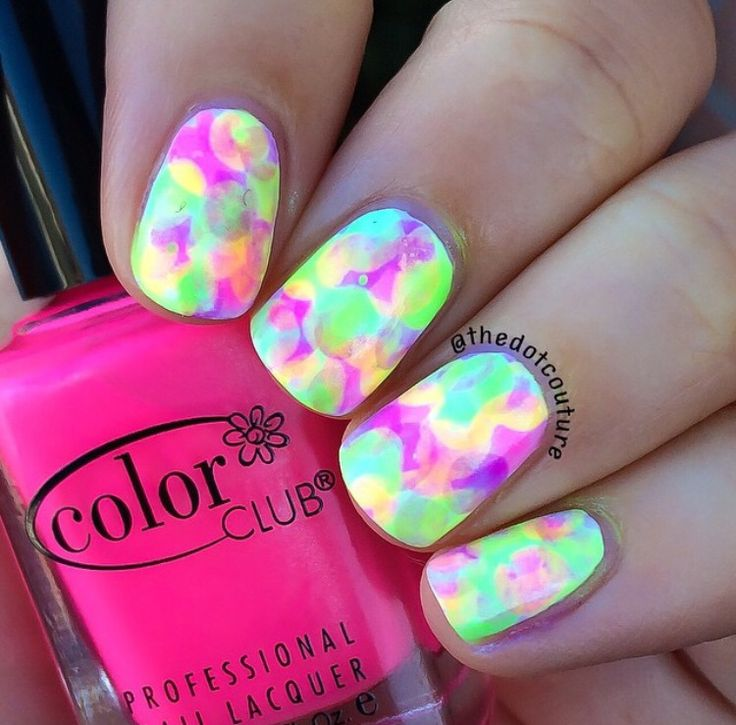 Today over at @cutegirlshairstyles I have a tutorial on Nimbus nails!! Head on over to http://www.cutegirlshairstyles.com/lifestyle/beauty/diy-nimbus-nail-art/ for this easy nail art technique. These were done with Color Club neons!