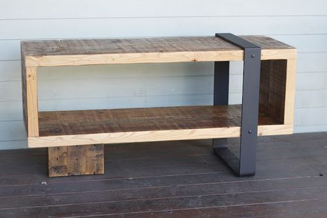 Arbor Exchange | Reclaimed Wood Furniture: Media Piece w/ Metal Banding