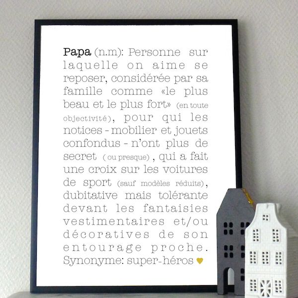 papa d finition babayaga magazine webzine affiche poster d co d coration enfants. Black Bedroom Furniture Sets. Home Design Ideas