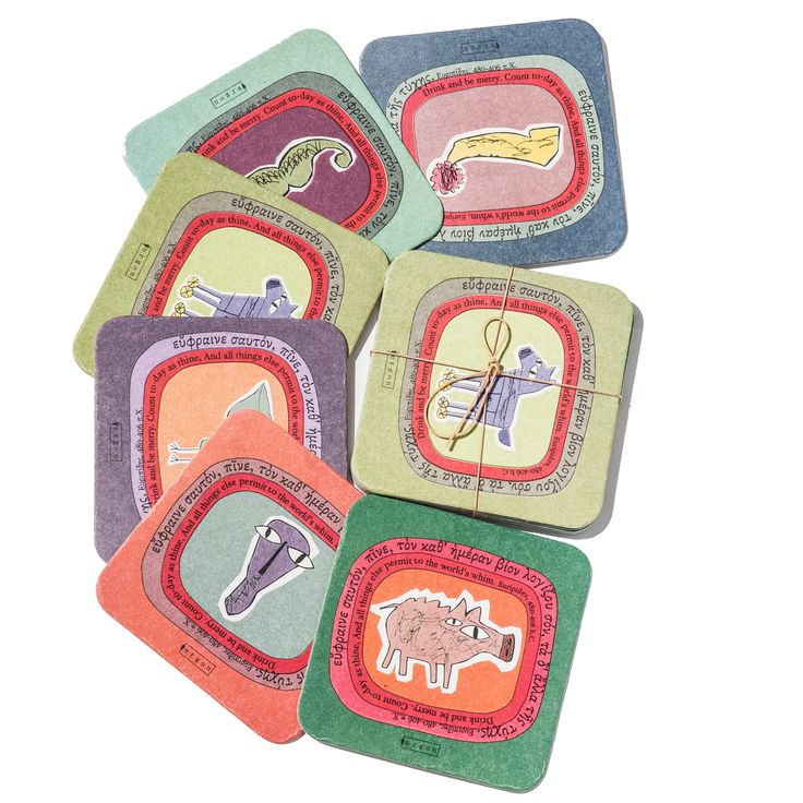Coasters, Inspiration Greek Symbols