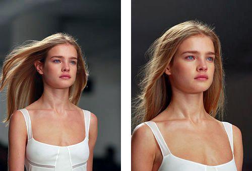natalia vodianova at calvin klein s/s 2003