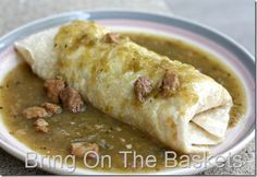 Green Chili with Pork, not to be confused with salsa verde