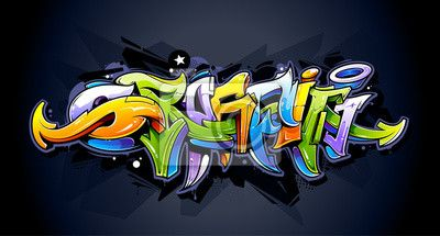 Sticker Lettrage de graffiti lumineux