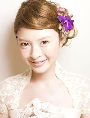 編み込みの前髪がガーリーな印象を作る髪型! / 結婚式髪型!一番かわいい流行ヘアスタイル・アレンジが見つかる