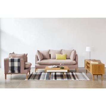 2 Sitzer Sofa Hellbeige Designer Couch Sofa