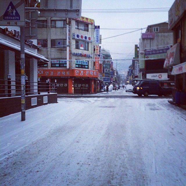 bu_noff / #아침#출근길#눈#월요일#젠장 / #골목 #거리 #눈 / 2014 01 20 /