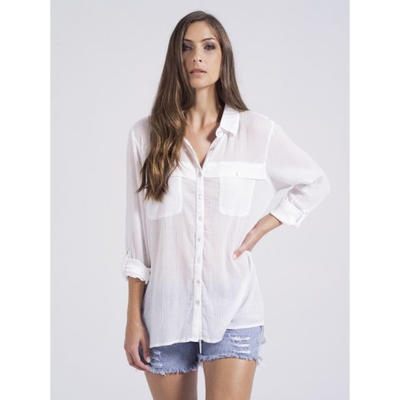 Bella to Simple but cute. I love a white top. this could easily be dressed up with linen pants and with a cami.