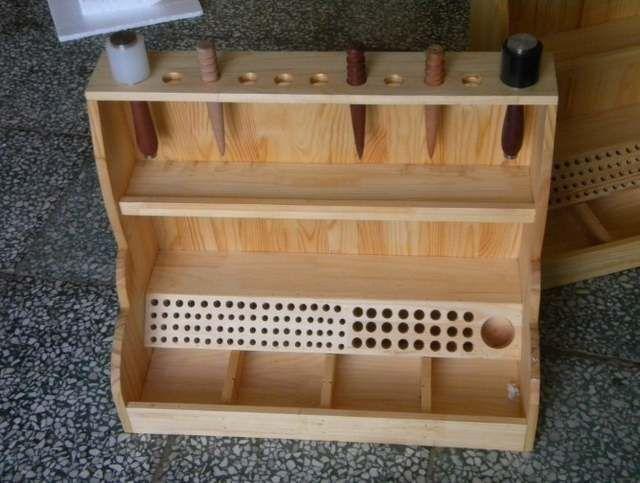 Leatherworking tool storage