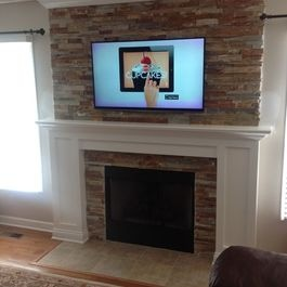 1000 Images About Fireplace Ideas On Pinterest Faux Stone Fireplaces Fireplace Tiles And