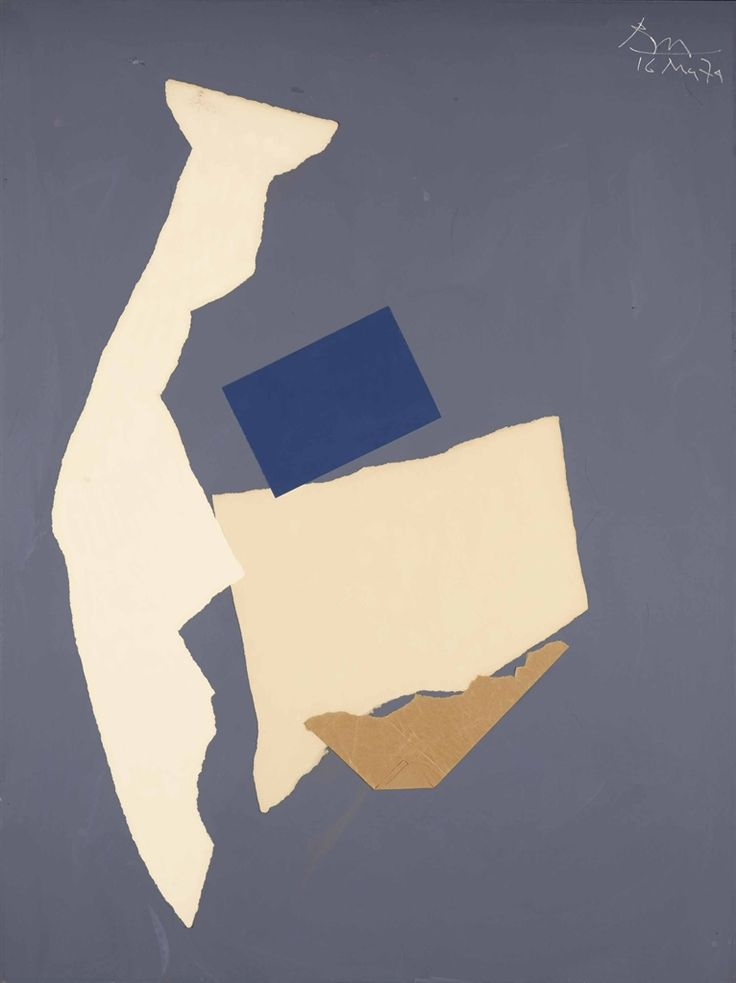 'In White and Blue on Grey' (1974) by Robert Motherwell